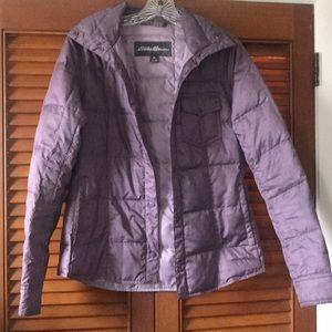 Eddie Bauer thin coat (purple; extra small)